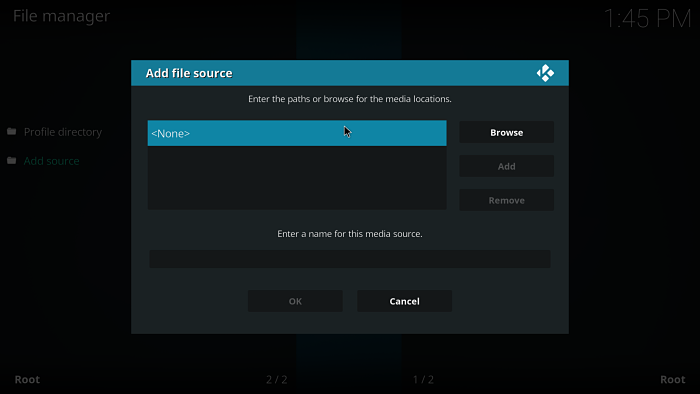 Kodi add source